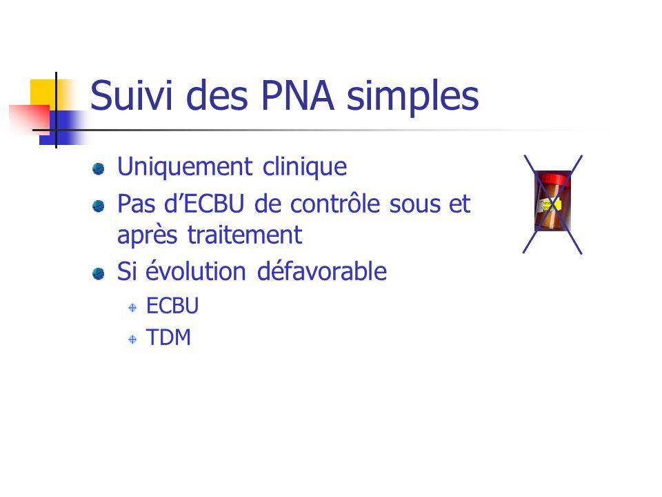 Suivi des PNA simples Uniquement clinique
