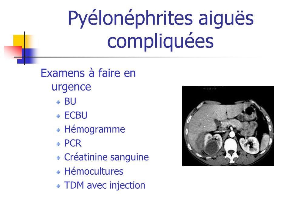 Pyélonéphrites aiguës compliquées