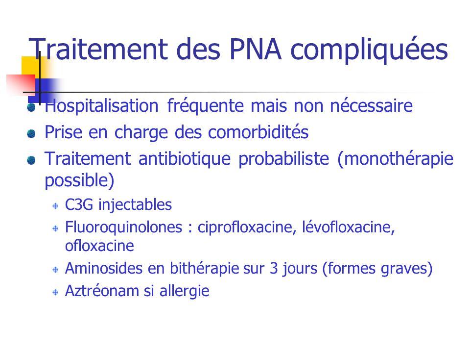 Traitement des PNA compliquées