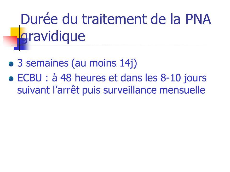 Durée du traitement de la PNA gravidique