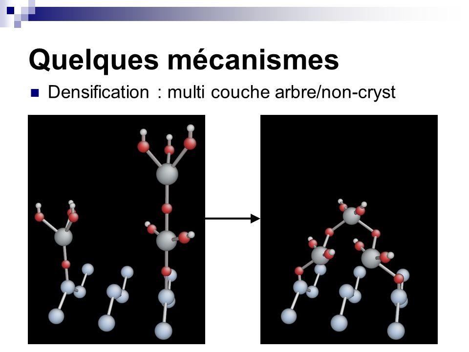 Quelques mécanismes Densification : multi couche arbre/non-cryst