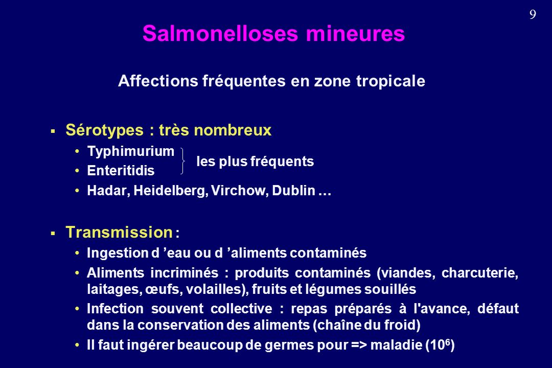 Salmonelloses mineures