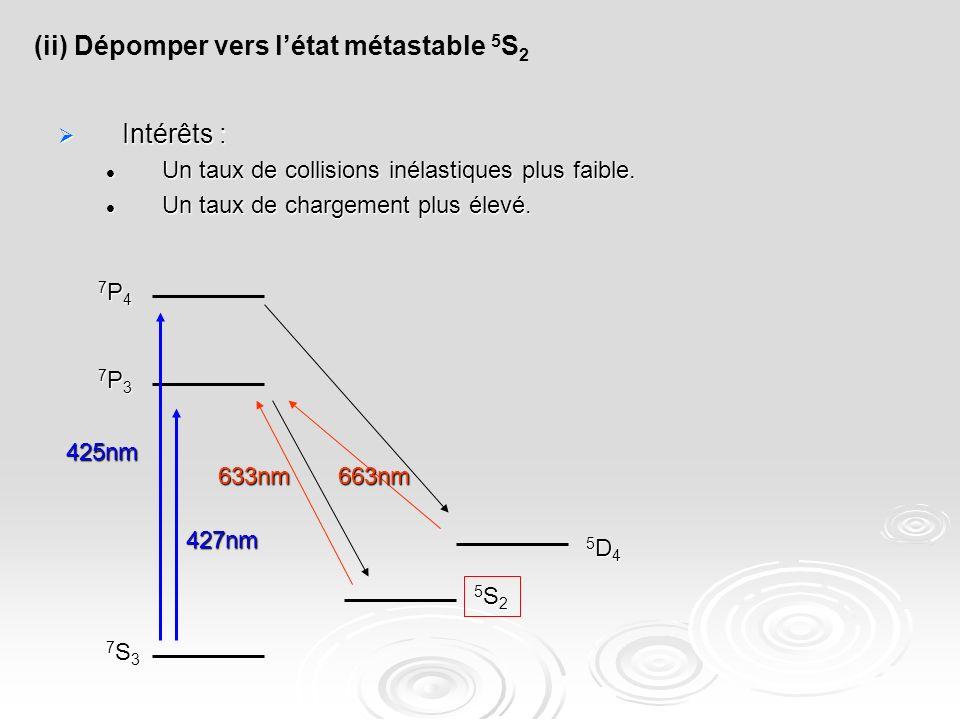 (ii) Dépomper vers l'état métastable 5S2