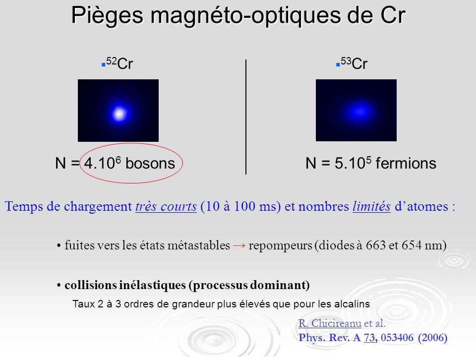 Pièges magnéto-optiques de Cr