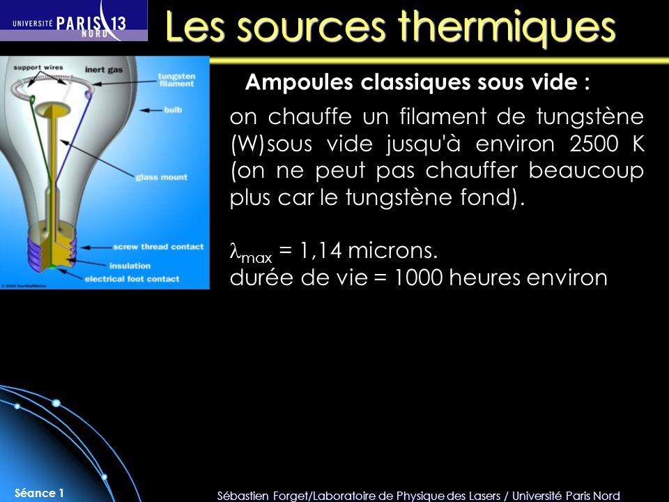 Les sources thermiques