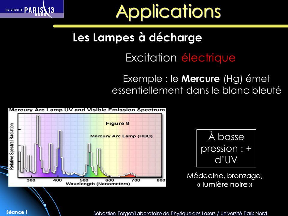 Applications Les Lampes à décharge Excitation électrique