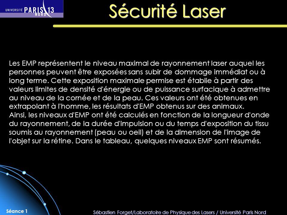 Sécurité Laser
