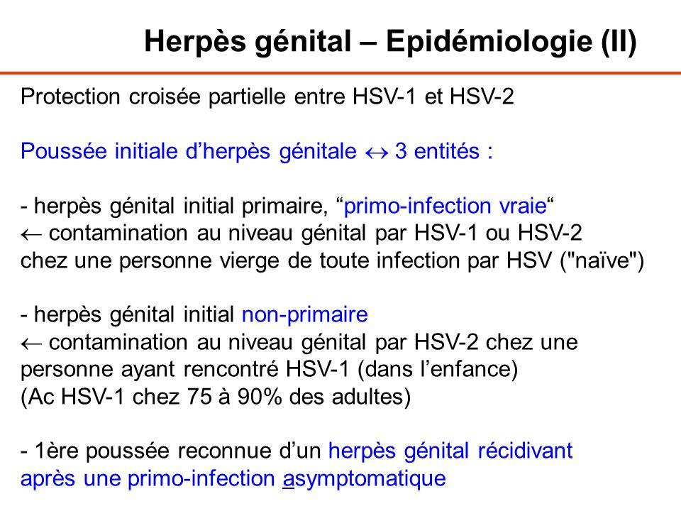 Herpès génital – Epidémiologie (II)