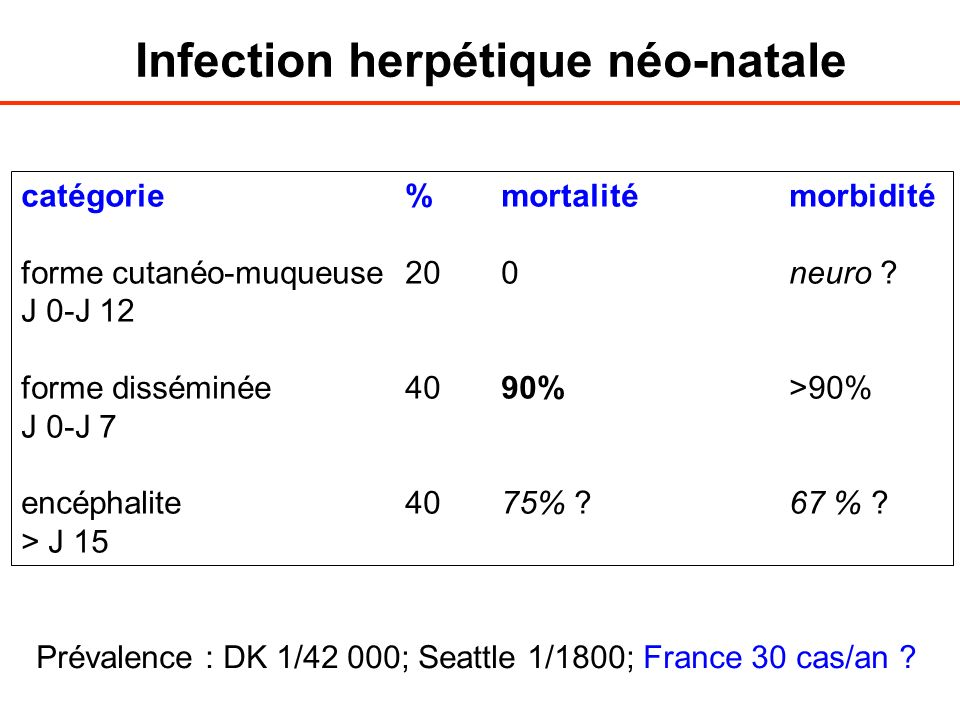 Infection herpétique néo-natale