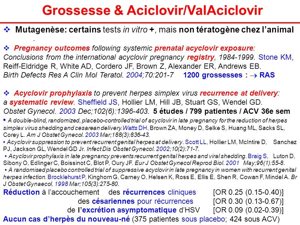 Grossesse & Aciclovir/ValAciclovir