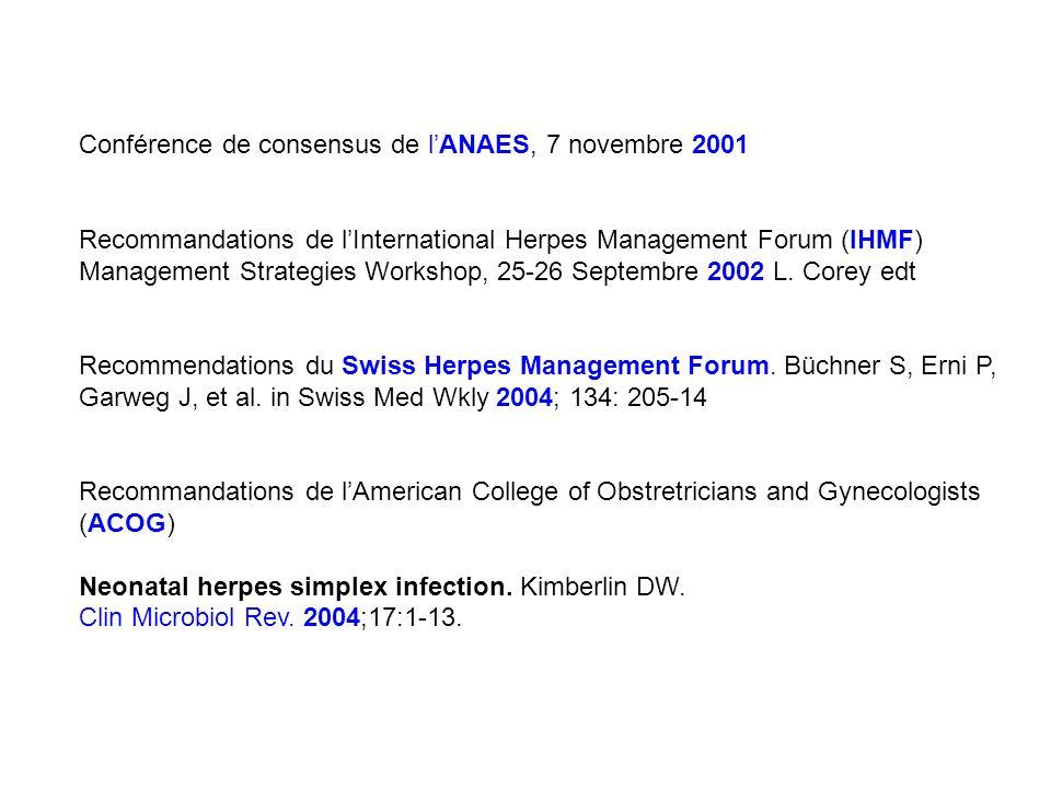 Conférence de consensus de l'ANAES, 7 novembre 2001