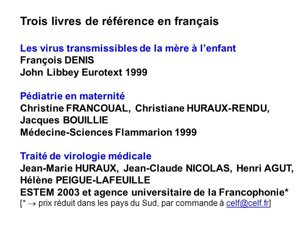 Trois livres de référence en français