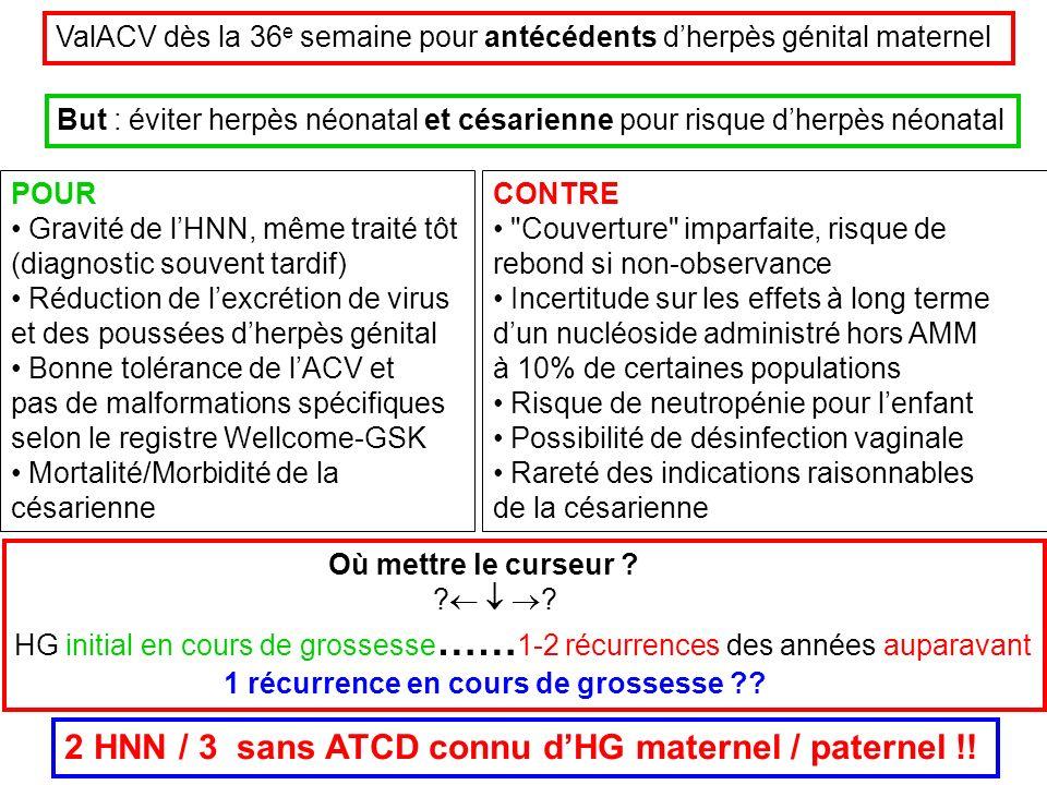 2 HNN / 3 sans ATCD connu d'HG maternel / paternel !!