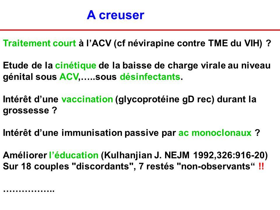 A creuser Traitement court à l'ACV (cf névirapine contre TME du VIH)