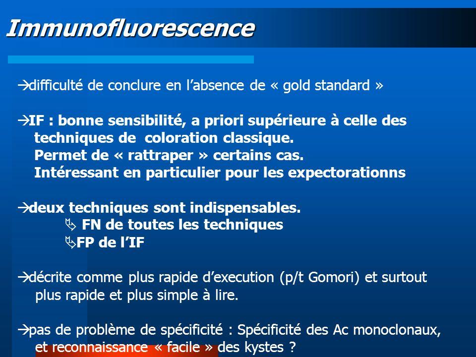 Immunofluorescence difficulté de conclure en l'absence de « gold standard »