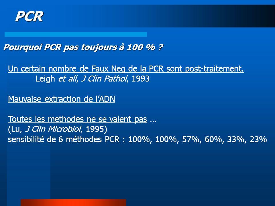 PCR Pourquoi PCR pas toujours à 100 %