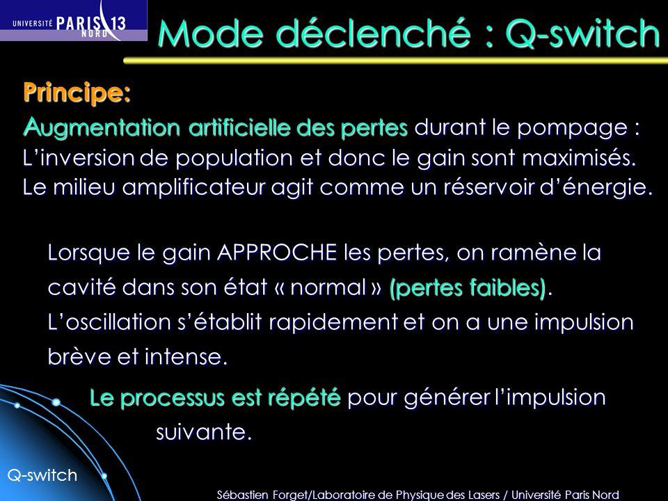 Mode déclenché : Q-switch
