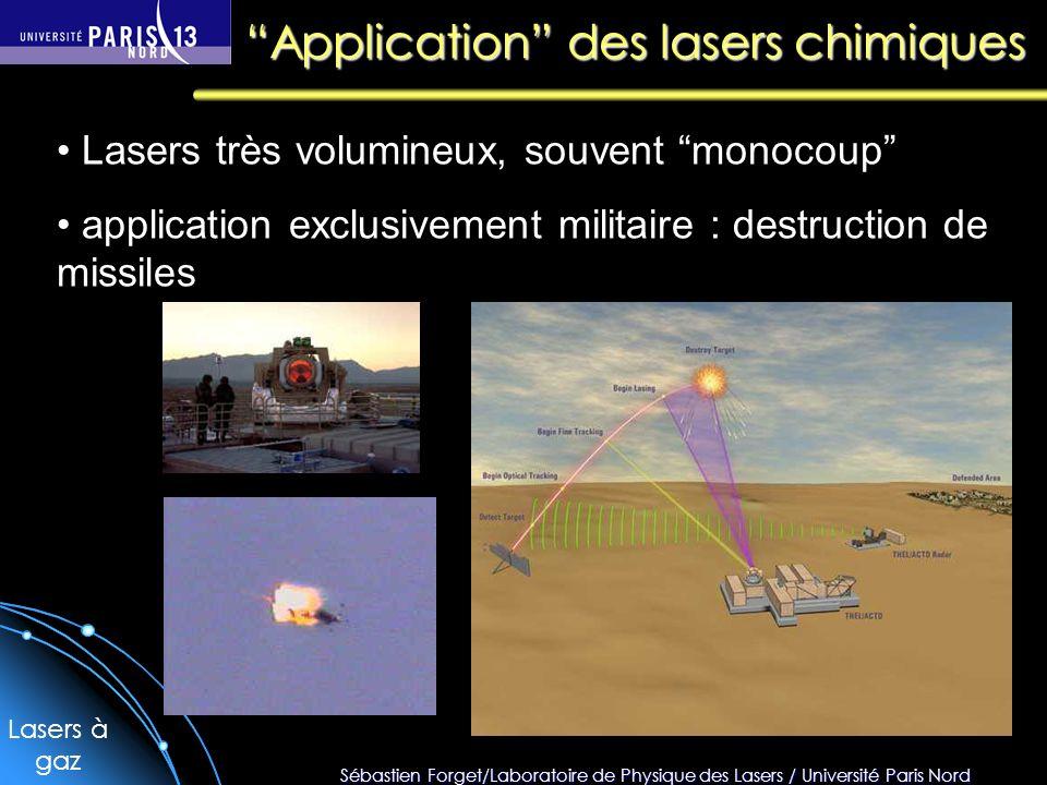 Application des lasers chimiques