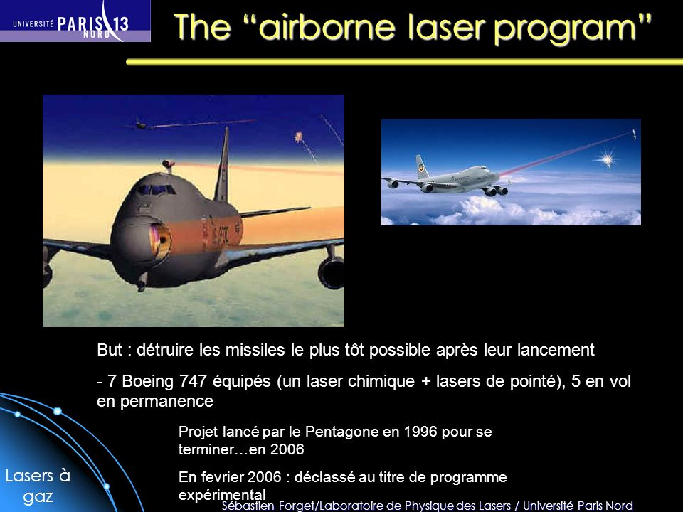 The airborne laser program