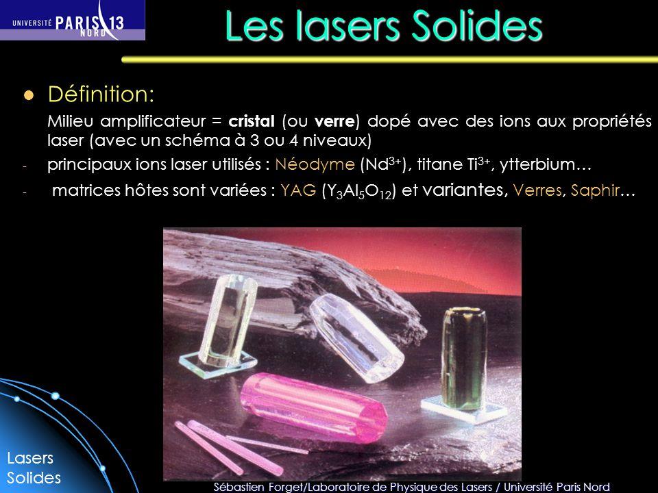 Les lasers Solides Définition: