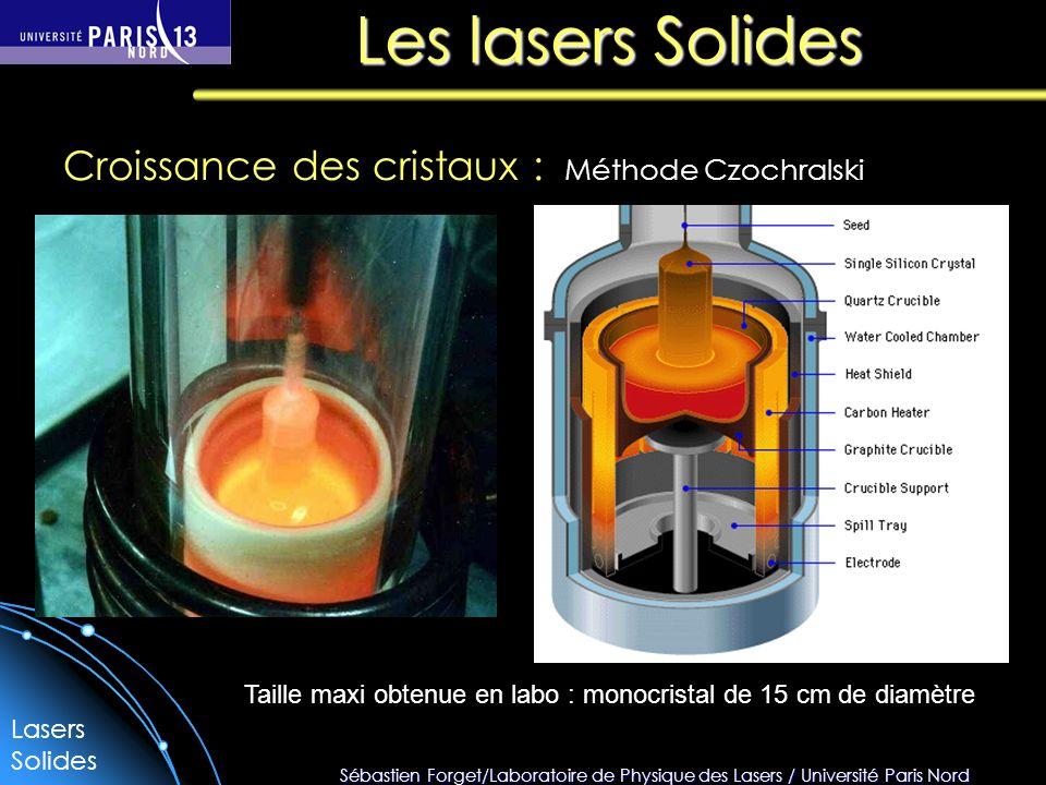 Les lasers Solides Croissance des cristaux : Méthode Czochralski