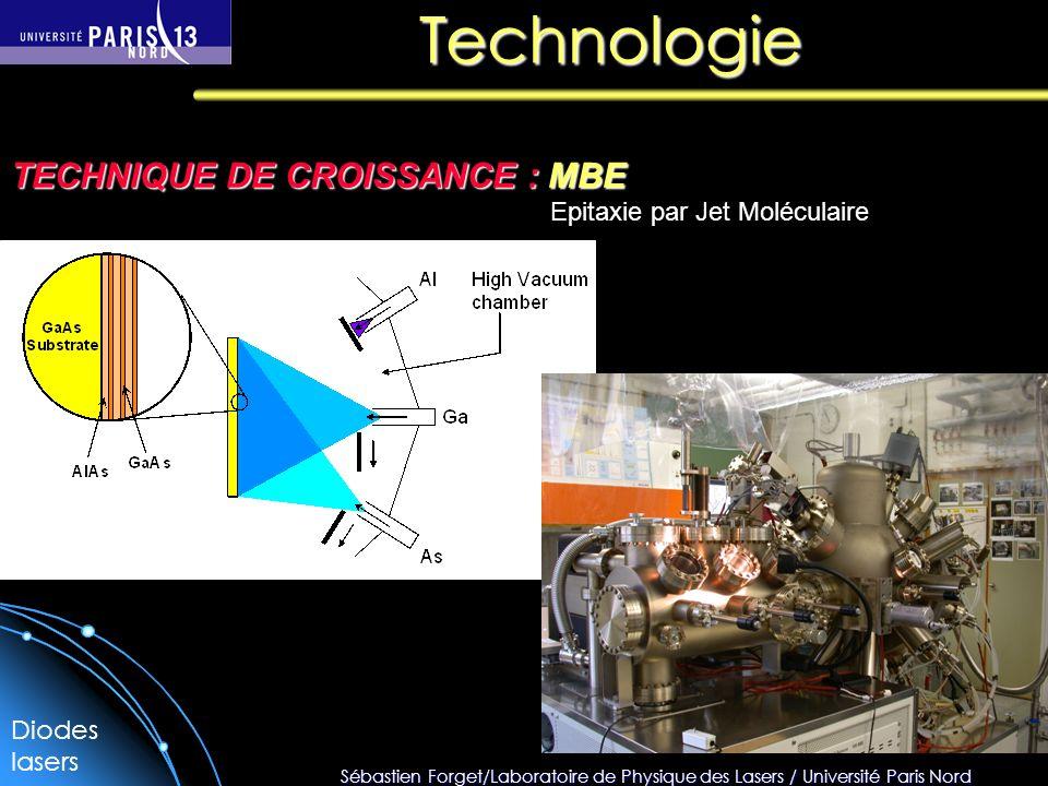 Technologie TECHNIQUE DE CROISSANCE : MBE Epitaxie par Jet Moléculaire