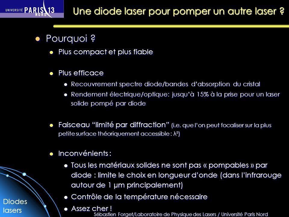 Une diode laser pour pomper un autre laser