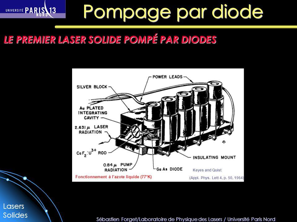 Pompage par diode LE PREMIER LASER SOLIDE POMPÉ PAR DIODES