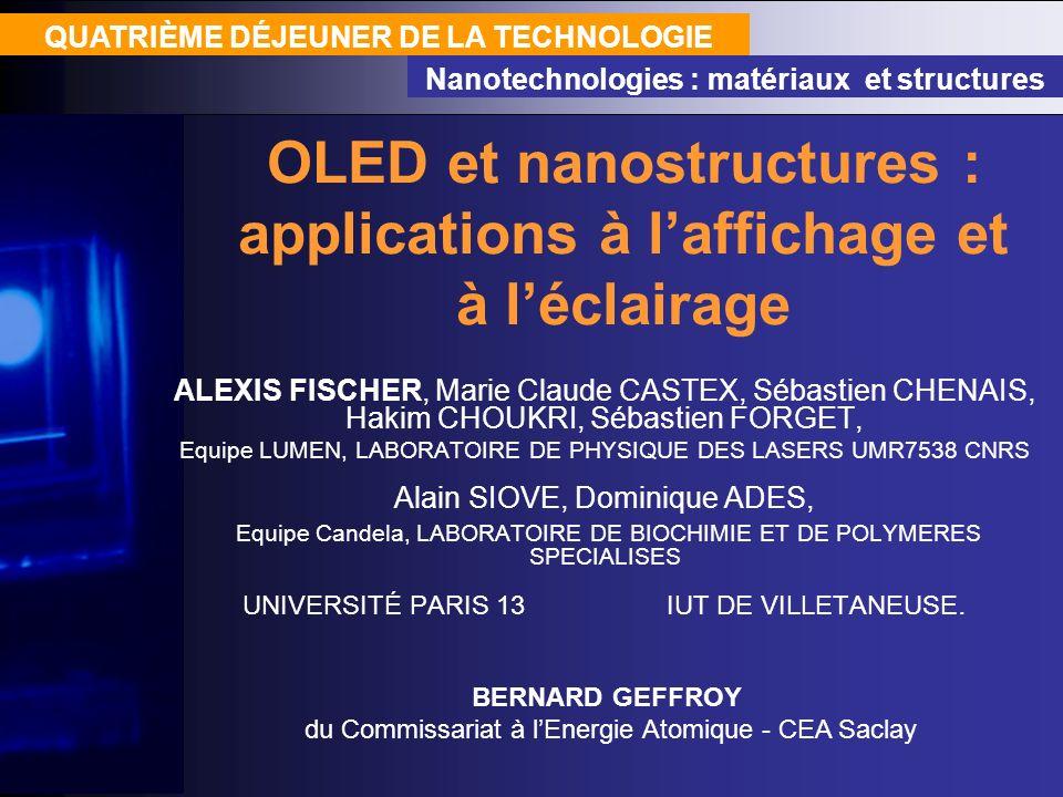 OLED et nanostructures : applications à l'affichage et à l'éclairage