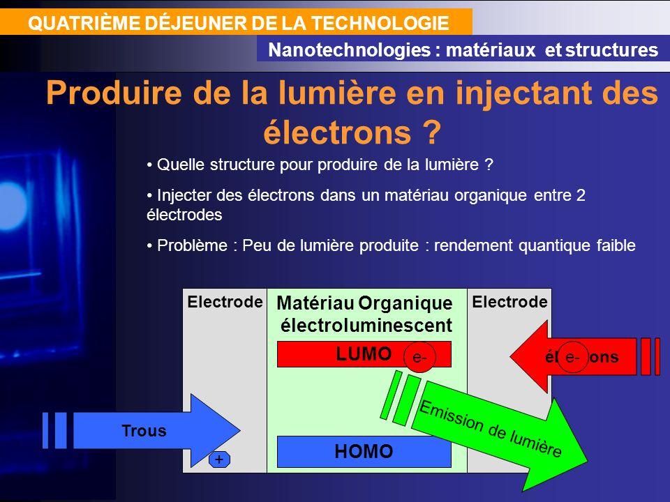 Produire de la lumière en injectant des électrons