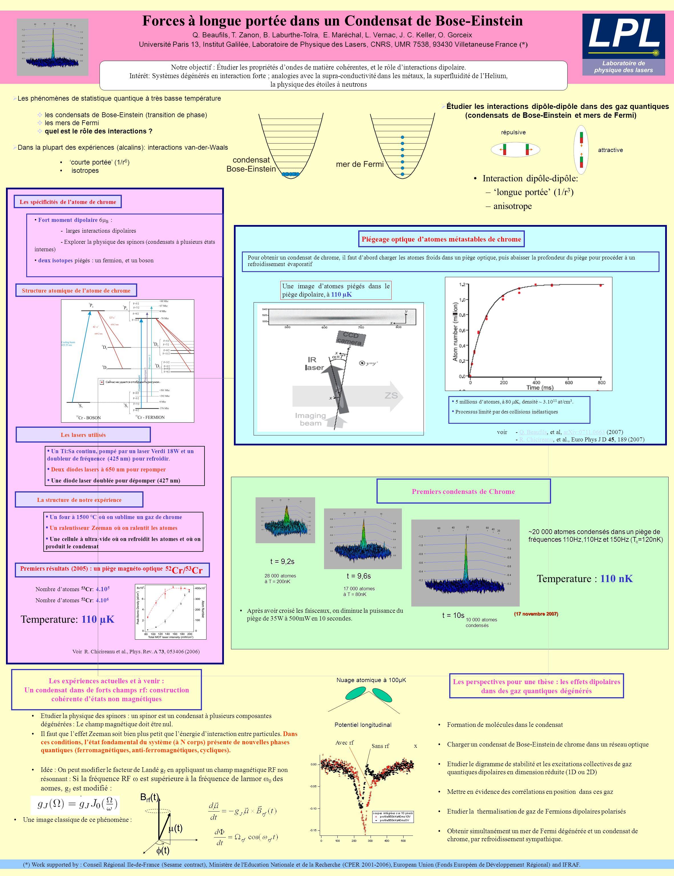 Forces à longue portée dans un Condensat de Bose-Einstein