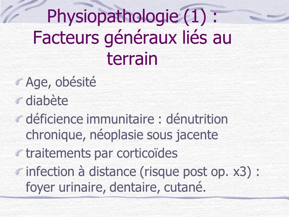 Physiopathologie (1) : Facteurs généraux liés au terrain