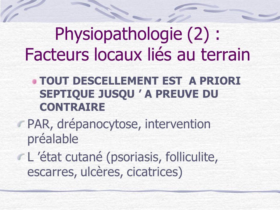 Physiopathologie (2) : Facteurs locaux liés au terrain