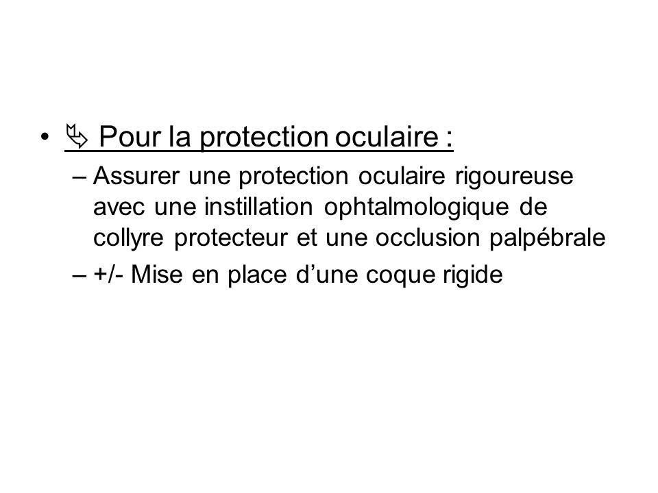  Pour la protection oculaire :