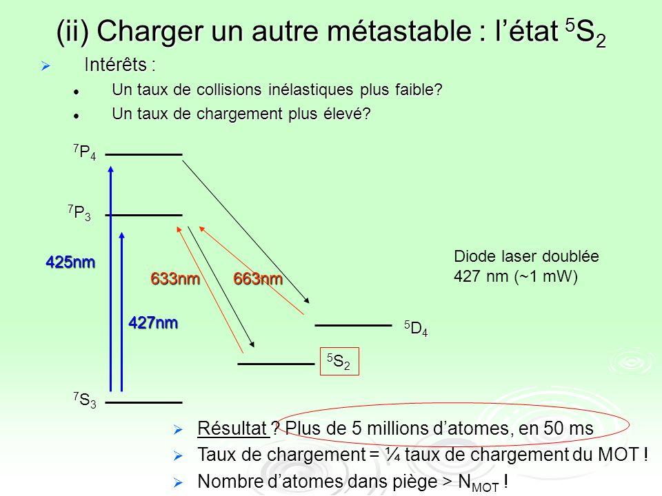 (ii) Charger un autre métastable : l'état 5S2