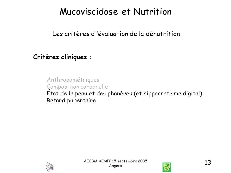 Mucoviscidose et Nutrition