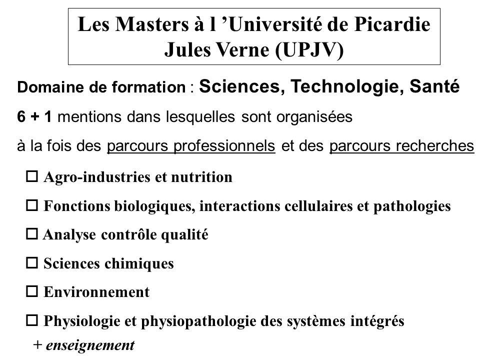 Les Masters à l 'Université de Picardie Jules Verne (UPJV)
