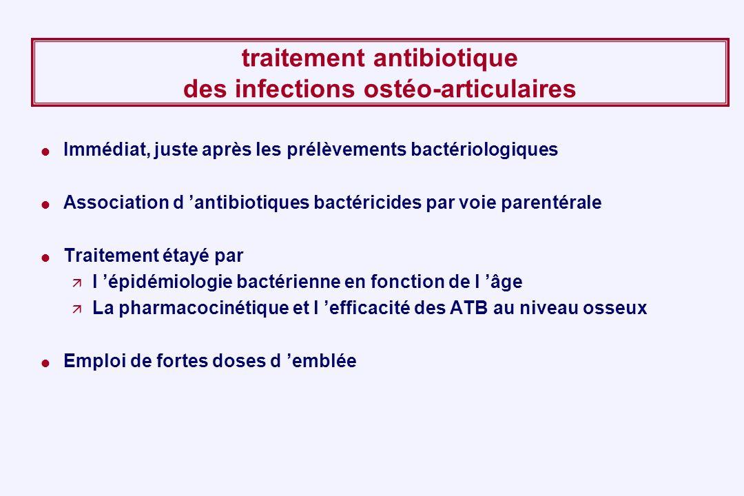 traitement antibiotique des infections ostéo-articulaires