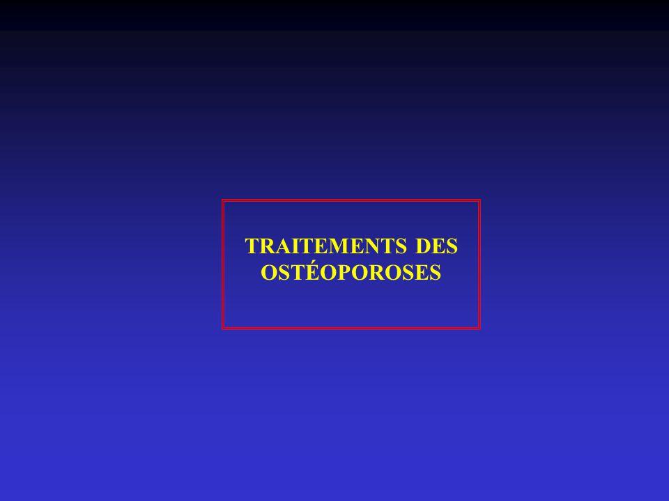 TRAITEMENTS DES OSTÉOPOROSES