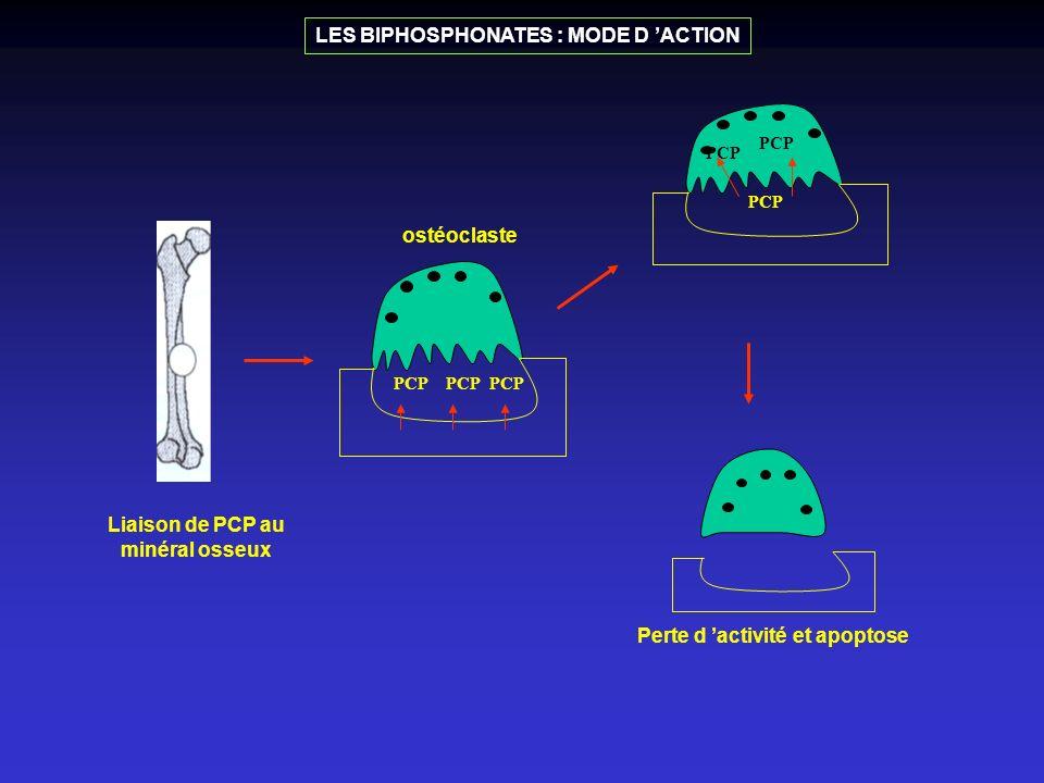 Liaison de PCP au minéral osseux