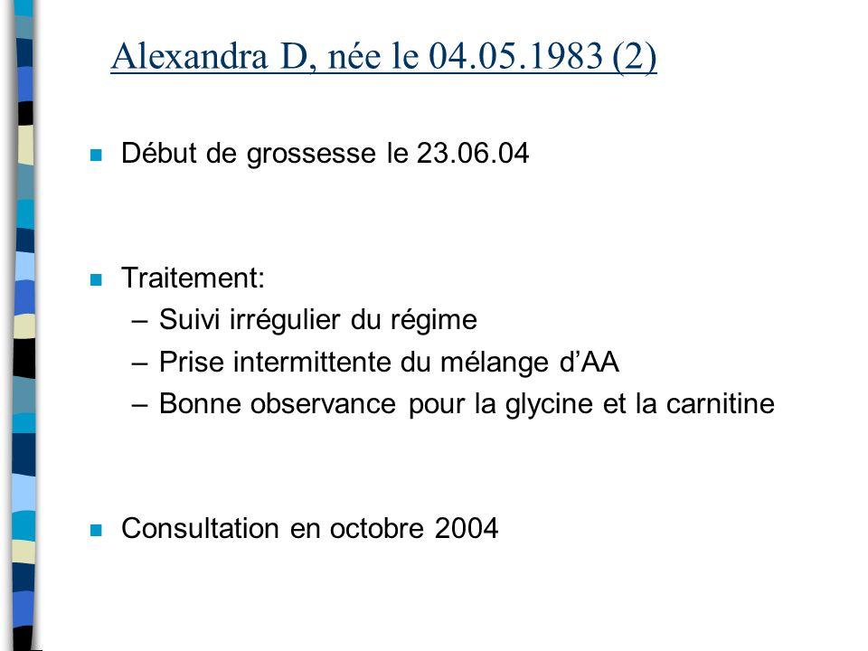 Alexandra D, née le 04.05.1983 (2) Début de grossesse le 23.06.04