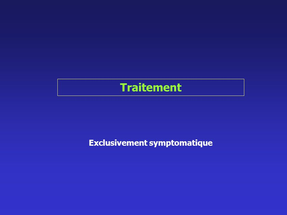 Exclusivement symptomatique