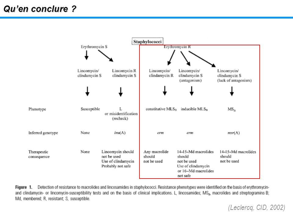 Qu'en conclure (Leclercq, CID, 2002)