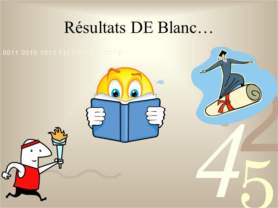 Résultats DE Blanc…