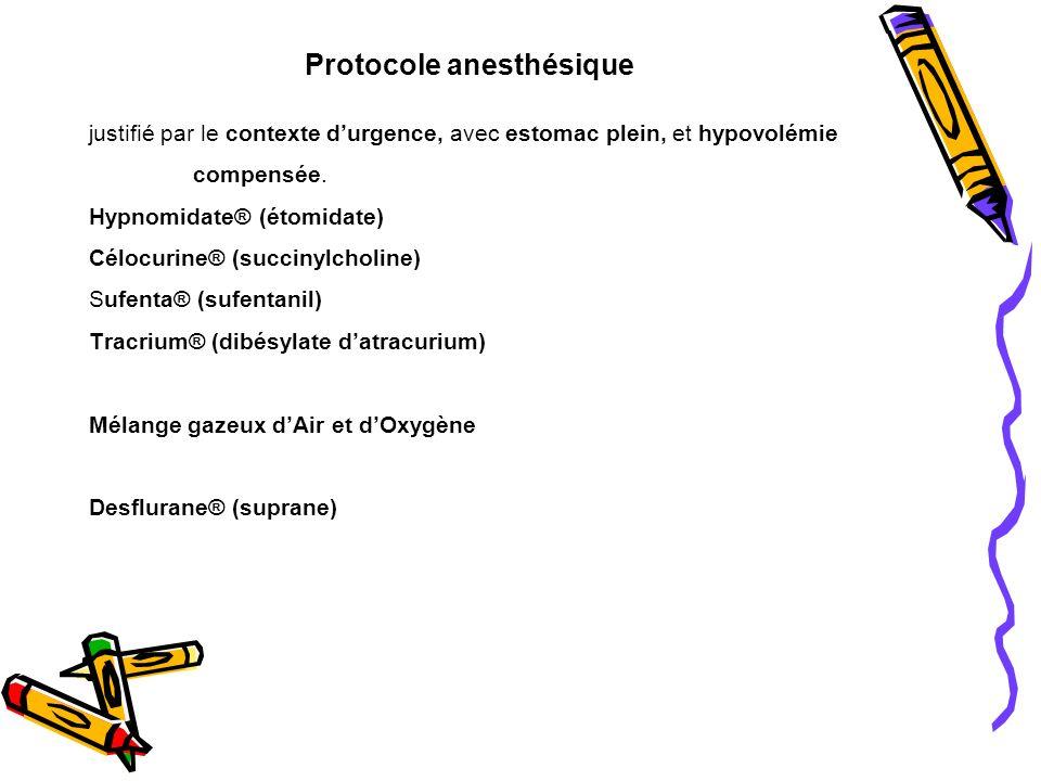 Protocole anesthésique
