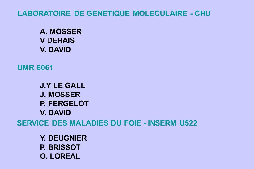 SERVICE DES MALADIES DU FOIE - INSERM U522