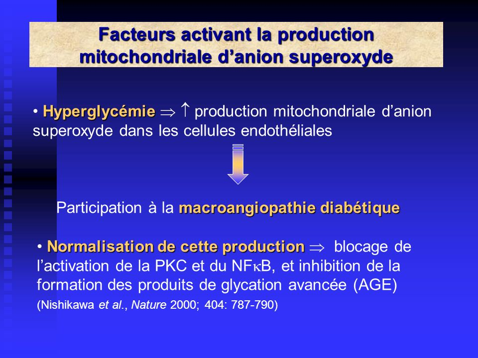 Facteurs activant la production mitochondriale d'anion superoxyde