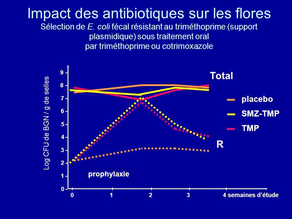 Impact des antibiotiques sur les flores Sélection de E