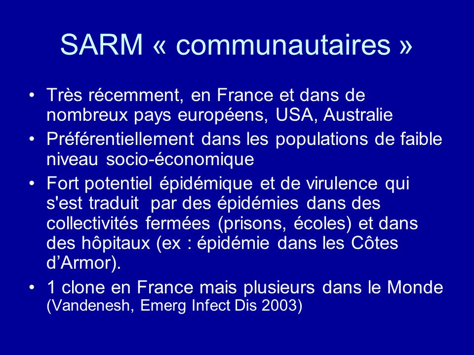 SARM « communautaires »