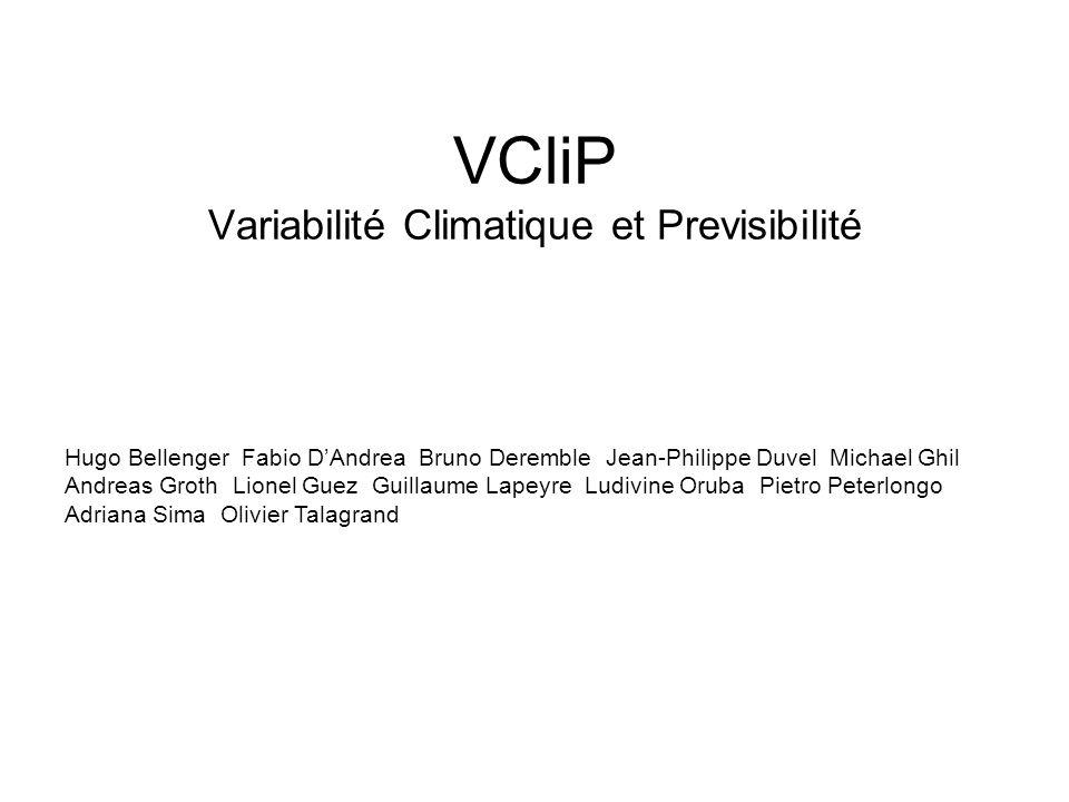 VCliP Variabilité Climatique et Previsibilité